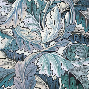 """House of Hackney """"Acanthus"""" in Aegean Blue &  Off White"""