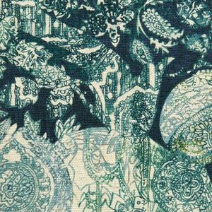 "Liberty London Fabrics ""Emerald and Rose"" in Alice Blue"