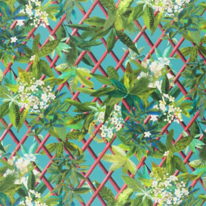 "Christian Lacroix for Designers Guild ""Canopy"" in Turquoise"