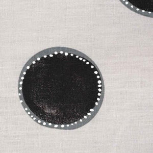"Rebecca Atwood ""Dotted Circles"" in Gray & Black"