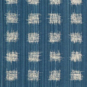 """Rebecca Atwood """"Griddled Ikat"""" in Ocean Blue"""