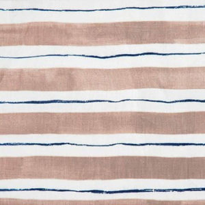 """Rebecca Atwood """"Painted Stripe"""" in Coffee & Blauvelt Blue"""