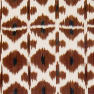 "Madeline Weinrib ""Daphne Ikat"" in Brown"
