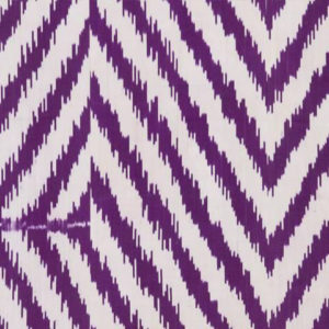 "Madeline Weinrib ""Guinevere Ikat"" in Purple"