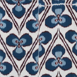 """Madeline Weinrib """"Ricard Ikat"""" in Turquoise"""