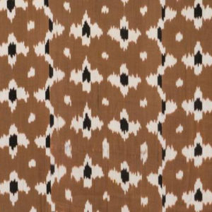 "Madeline Weinrib ""Fiore Ikat"" in Brown & White"