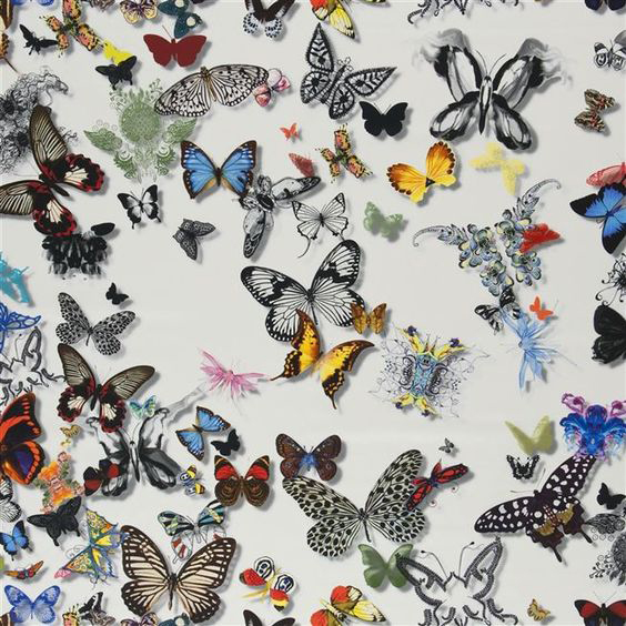 """Christian Lacroix for Designers Guild """"Butterfly Parade"""" in Opalin"""