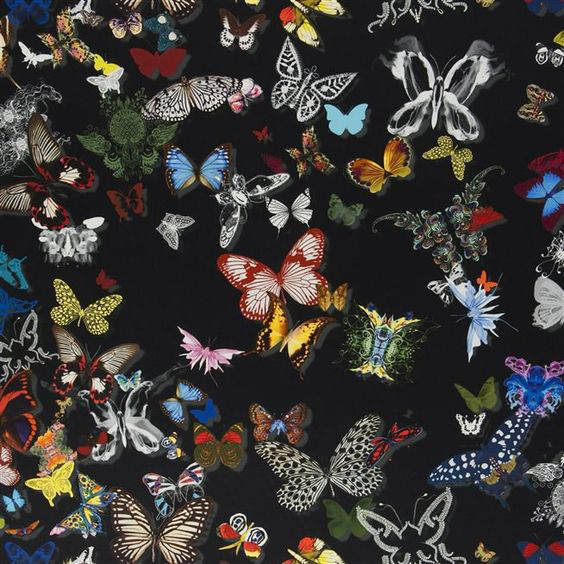 """Christian Lacroix for Designers Guild """"Butterfly Parade"""" in Oscuro"""