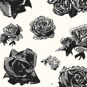 "Edit ""Block Roses"" in Grey"