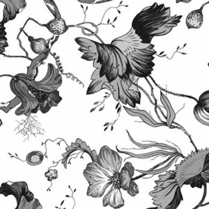 """Edit """"French Floral"""" in Black"""