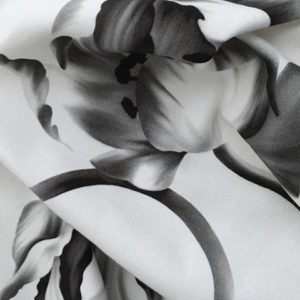 "Ellie Cashman Design ""Twisting Tulips"" in Black, White & Grey"