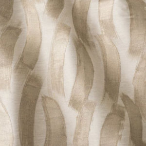 "Fret Fabrics ""Cirrus"" in Sand on Ivory"