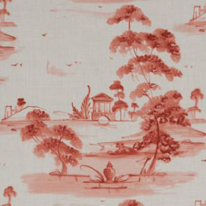 "Jane Shelton ""Toile Plate"" in Coral"