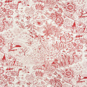 "Kathryn M Ireland ""Toile"" in Red"