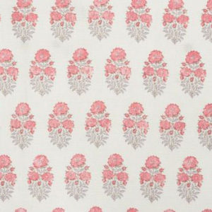 "Lisa Fine Textiles ""Mughal Flower"" in Rose"