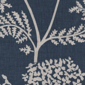 "Madder Cutch & Co ""Achillea Ground Large"" in Burghley Blue on Natural"