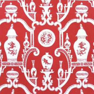 """Madeaux by Richard Smith """"Cathay"""" in Chinese Red"""