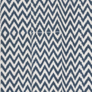 "Madeline Weinrib ""Chevron"" in Blue"