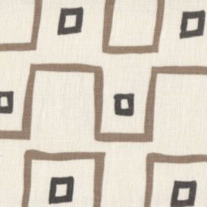 "Mally Skok ""Kuba Cloth"" in Taupe & Charcoal"