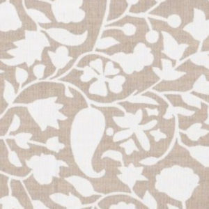 """Mally Skok """"Rohet Textured"""" in Solid White on Natural"""