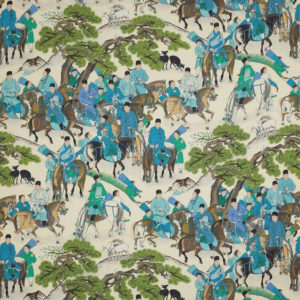 """Manuel Canovas """"Les Cavaliers Lin"""" in  Turquoise"""