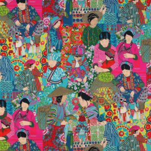 """Manuel Canovas """"Voyage en Chine"""" in  Turquoise"""