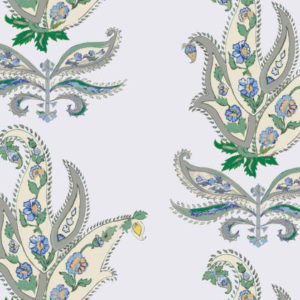 """Nine Muses """"Royal Paisley"""" in Kelly Blue"""