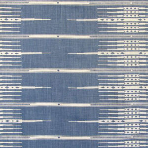 "Peter Dunham ""Tanjiers"" in Indigo on Natural"