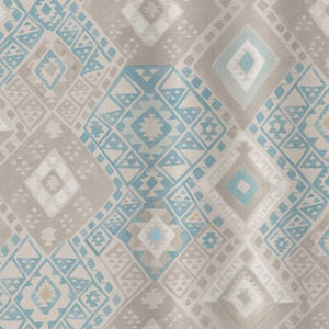 "Quercus & Co ""Kilim"" in Sea Blue"
