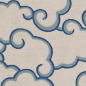"Tania Vartan ""Clouds"" in Clear Blue & Oatmeal"