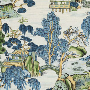 "Thibaut ""Asian Scenic"" in Blue & Green"