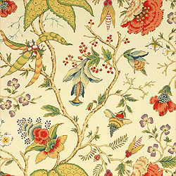 "Thibaut ""Chinoiserie Floral"" in Cream"