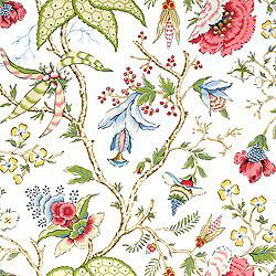 "Thibaut ""Chinoiserie Floral"" in White"