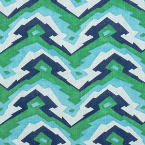 "Thibaut ""Deco Mountain"" in Blue & Green"