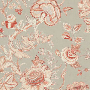 "Thibaut ""Rittenhouse"" in Red on Linen"