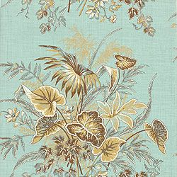 "Thibaut ""Sweet Grass"" in Brown & Aqua"