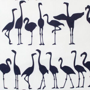 "Victoria Larsen ""Flamingo Parade"" in Navy"