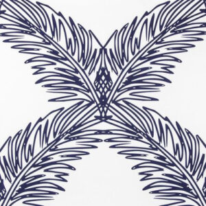 "Victoria Larsen ""Palm Trellis"" in Navy"