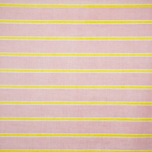 "Virginia White Collection ""Agnes Horizontal Lines"" in Pink & Lime"