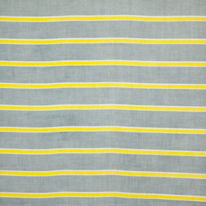 """Virginia White Collection """"Agnes Horizontal Lines"""" in Stone Blue & Lime"""