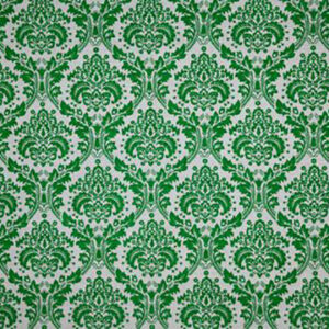 "Virginia White Collection ""Damask"" in Green"