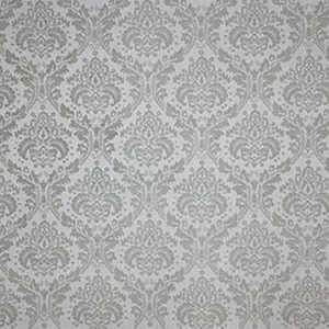 "Virginia White Collection ""Damask"" in Grey"