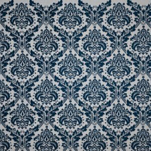 "Virginia White Collection ""Damask"" in Indigo"