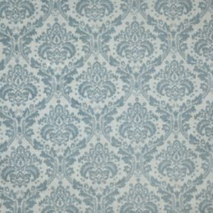 "Virginia White Collection ""Damask"" in Stone Blue"