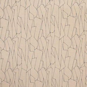 """Virginia White Collection """"Reeds Reverso II"""" in Indigo on Natural"""