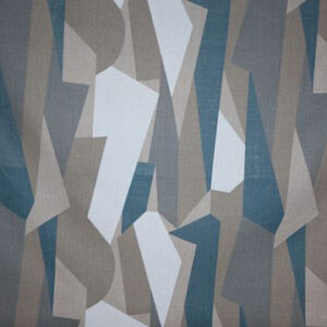 "Virginia White Collection ""Reeds"" in Grey Mist on Ecru"