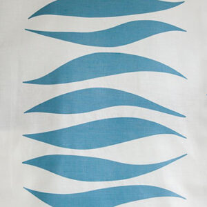 "Virginia White Collection ""Waves"" in Sky Blue"