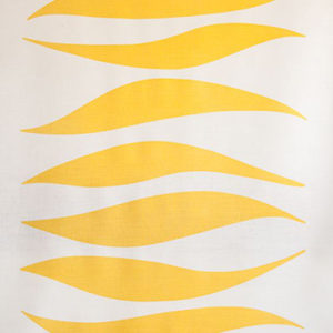 "Virginia White Collection ""Waves"" in Yellow"
