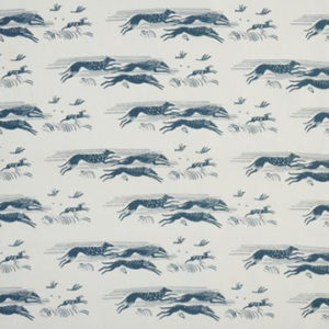 "Virginia White Collection ""Whippets"" in Capri Blue"