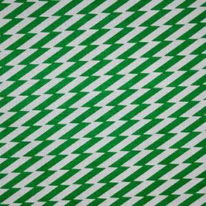 "Virginia White Collection ""Zig Zag"" in Green"